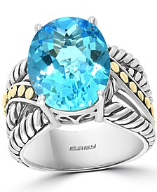 EFFY® Blue Topaz Statement Ring (9 ct. t.w.) in Sterling Silver & 18k Gold-Plate (Also in Citrine and Amethyst)