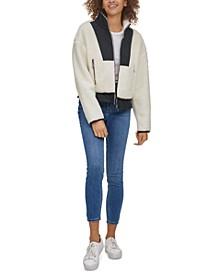 Faux-Sherpa Contrast Jacket
