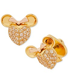 Two-Tone Pavé Minnie Stud Earrings