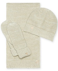 3-Pc. Lurex Hat, Scarf & Mittens Gift Set