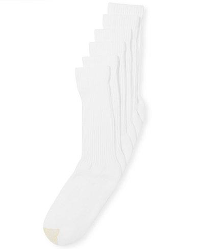 Gold Toe Premier Classic 6 Pack Crew Athletic Men's Socks