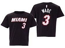 Youth Miami Heat Replica Name and Number T-Shirt - Dwyane Wade