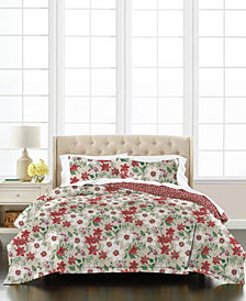 Floral Percale 3-Piece Full/Queen Comforter Set, Created for Macy's