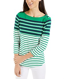 Linen Striped Top, Created for Macy's