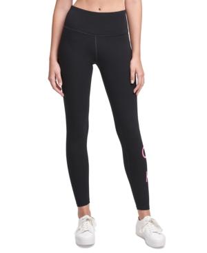 Calvin Klein Performance Logo High-waist Leggings In Pink