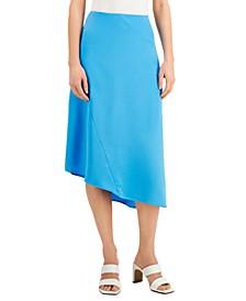Asymmetrical Hem Midi Skirt, Created for Macy's