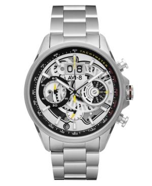 Men's Hawker Harrier Matador Chronograph Silver Tone Ivory Stainless Steel Bracelet Watch