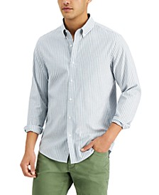 Men's Slim-Fit Stretch Stripe Oxford Shirt, Created for Macy's