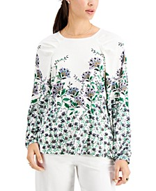 Floral Boat-Neck Top, Created for Macy's