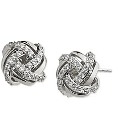 Pavé Knot Stud Earrings, Created for Macy's