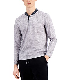 Tallia Men's Slim Fit Long Sleeve Henley and a Free Face Mask With Purchase