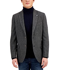 Mens Modern-Fit Wool Blazer