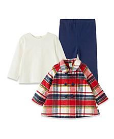 Baby Girls Plaid Jacket with Leggings Set