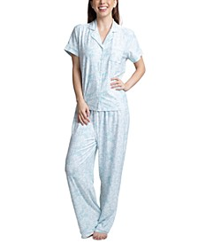Printed Short Sleeve Pajama Set