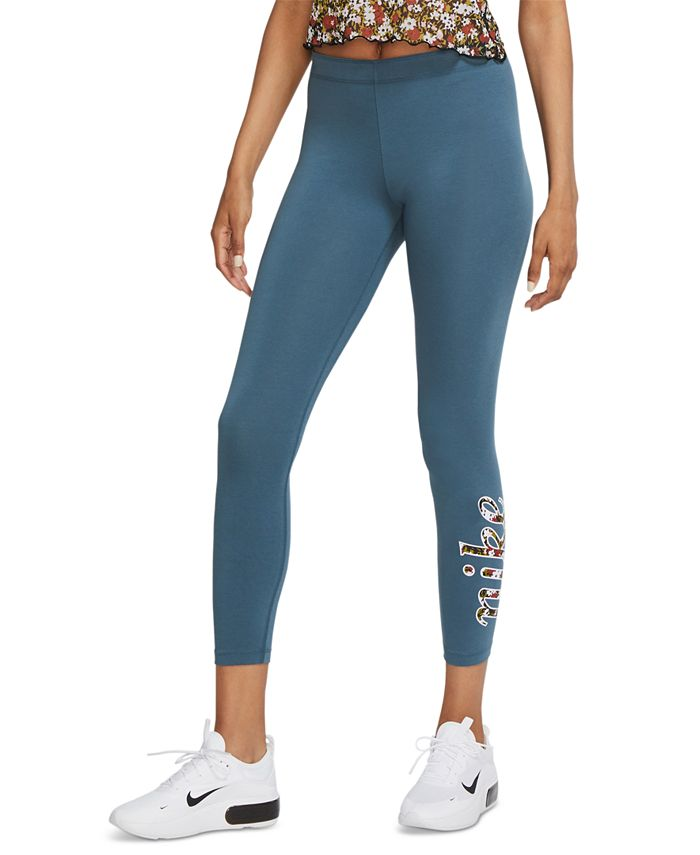 Nike - Sportswear Printed-Logo Leggings