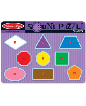 Melissa and Doug Kids Toy Shapes Sound Puzzle