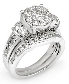 Diamond Composite Bridal Set (2-1/2 ct. t.w.) in 14k White Gold