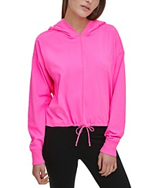 Sport Cotton Cropped Hoodie