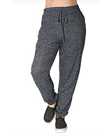 Women's Plus Size Cozy Drawstring Waist Joggers