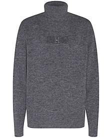 Men's Lewis Hamilton Regular-Fit Logo Embroidered Turtleneck Sweater