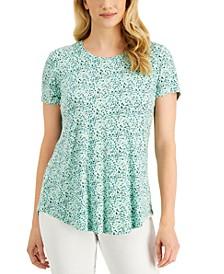 Printed Round-Hem T-Shirt, Created for Macy's