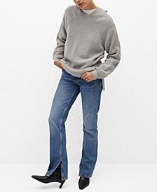 Women's Wool-Blend Knit Sweatshirt