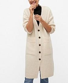Women's Buttoned Long Cardigan