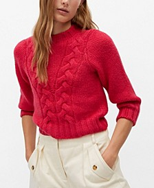 Women's Openwork Cable-Knit Sweater