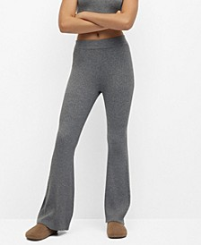 Women's Ribbed Flared Trousers