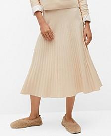 Women's Pleated Knit Skirt