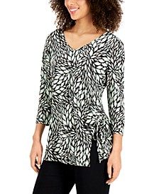 Printed Ruched-Side Top, Created for Macy's