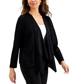Moleskin Open-Front Jacket, Created for Macy's