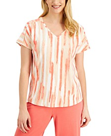 Printed V-Neck T-Shirt, Created for Macy's