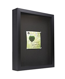 """Shadow Box Frame with Linen Display Board, 11"""" x 14"""""""