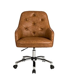 Bonded Leather Gas Lift Adjustable Swivel Office Chair/Desk Chair