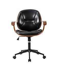 Leatherette Adjustable Swivel Desk Chair/Task Chair