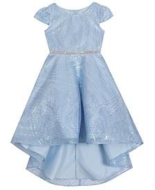 Little  Girl Sequin Mesh Hi Low Dress