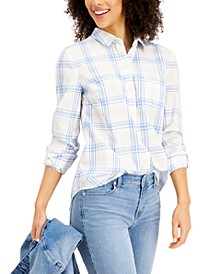 Cotton Plaid Shirt, Created for Macy's