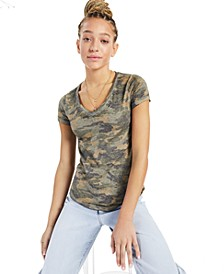 Washed Camo-Print T-Shirt, Created for Macy's