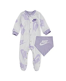 Baby Boys Footed Coverall Bib