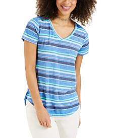 Petite Printed Burnout T-Shirt, Created for Macy's