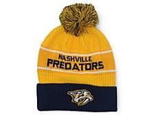 Nashville Predators 2020 Locker Room Pom Knit Hat