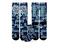 Youth Seattle Kraken Montage Socks