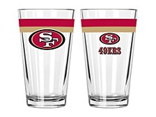 San Francisco 49ers 16oz Double Banded Pint Glass