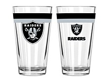Las Vegas Raiders 16oz Double Banded Pint Glass