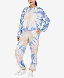 Juniors' Tie-Dye Sweatshirt & Jogger Set