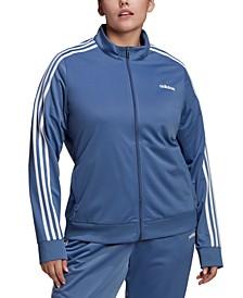 Women's Plus Size Essential 3-Stripe Tricot Track Jacket