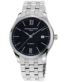 Men's Swiss Automatic Index Stainless Steel Bracelet Watch 40mm