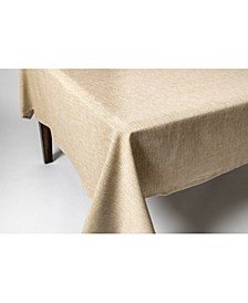 "Tweed 100% Cotton Tablecloth 60""x84"" Green"
