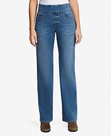 Women's Theadora Pull On Wide Leg Jeans